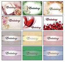 Einladungskarten mit Umschlag Hochzeit Geburtstag Kommunion Konfirmation Neutral