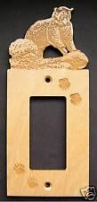 Bear GFI Decora Rocker Wood Electric Switch Plate Cover
