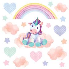 Magical Unicorn Horse & Rainbow Stars Childrens Wall Stickers DreamyUnic Unic13