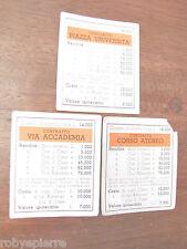 Contratti vecchio gioco Monopoli lire vintage ARANCIONI