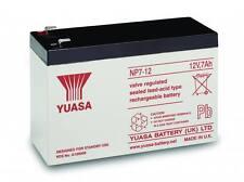 NP7-12 YUASA 12v 7Ah sealed lead acid battery for alarms, toy cars