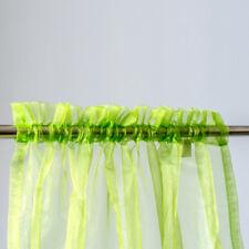 Organza Rod Pocket Curtain 100x200cm /140x213cm  2Pcs/Bag 6 Colors