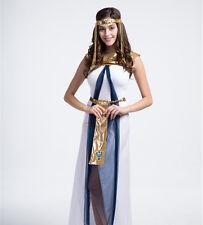 Costume travestimento da regina egitto con capello festa vestito carnevale donna