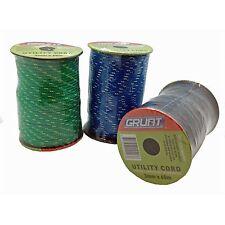 Grunt UTILITY CORD 3mmx60m, Strength 125kg *Aust Brand -Black, Blue Or Green