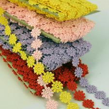 15/30/45/60 Lila Rosa Rojo Encaje Algodón Daisy Detalles Para coser Flor