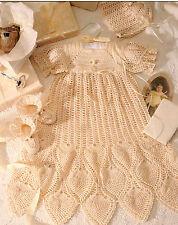 Crochet Pattern  ~ Beautiful Pineapple Newborn Baby Christening Set