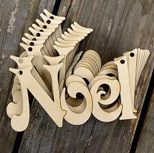 10x De Madera Noel Cadena palabra Victoria font 3 mm de madera contrachapada de forma decoración de Navidad
