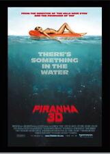 146582 Piranha 3D FRAMED CANVAS PRINT AU