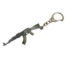 Waffen-Gewehr Schlüsselanhänger 3D Metallpistole, keyring, keychain, (2 Stücke)