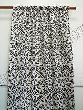 Frontgate Outdoor Drapes Panels Curtains Sunbrella Softly Elegant BLK 50x108