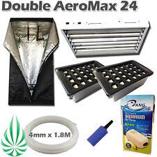 Hydroponics Aeroponics 2x 24 Pot With T5 2700K Mirror Shade Light 1.2M Grow Tent