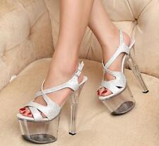 Sexy Super High Heel Womens Night-Club Stripper Pole Dance Platform Shoes Sandal