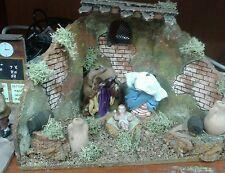 Nativita completa pastori in movimento 7 cm  presepe crib Shepherd