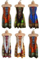 Vestido De Verano Dashiki tribal africano Sol, Étnico Playa Boho vacaciones Vestito Bata