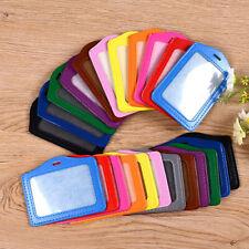 Porta Badge in pelle per tessera identificativa di lavoro porta tesserino carte