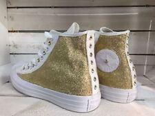 converse all star borchiate con borchie swarovski e glitter modello monocromo