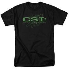 CSI Crime Scene Investigation Green Chalk Line Logo TV Show T-Shirt