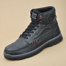 DOCKERS Herren Boots Leder Schuhe Stiefel Schwarz 352610-239001