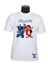 Tee-shirt adulte lilo et stitch du S au 2XL personnalisable avec prénom réf 35