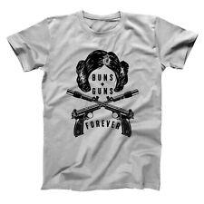 Buns Guns Forever  Princess Leia Star Wars Forever Gray Basic Men's T-Shirt