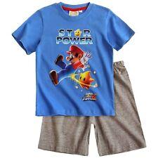 NINTENDO pyjama pyjashort pyjacourt SUPER MARIO 4 ans bleu gris NEUF