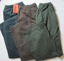 Cotton Knit Stretch Pants POCKETS Black Green Brown Plus 0X 1X 2X 3X 4X 5X USA
