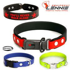 BioThane Hundehalsband/Halsband 25 mm; Klickverschluss,Aufdruck,ClicLock,Alu,YKK
