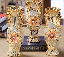 Porcelain Vase Vintage Ceramic Home Interior Decoration Tabletop Floor Accessory