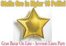 PALLONCINO STELLA GIALLO ORO MYLAR FOIL 18 Pollici Compleanno Festa Party