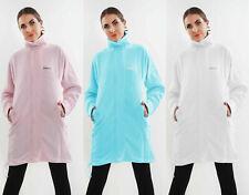 Ladies Celebrity Inspired Funnel Neck Fleece Bench Style Long Jacket