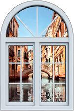 Stickers fenêtre trompe l'oeil Venise réf 6265