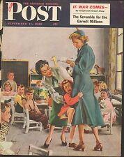 SEPT 11 1948 SATURDAY EVENING POST magazine cover print - CLASS ROOM