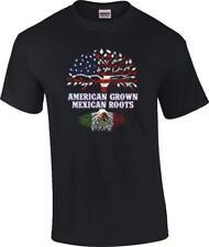 American Grown Mexican Roots Flag Hispanic T-Shirt