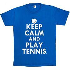 Keep Calm & Play TENIS-Pelota de tenis para hombre Camiseta