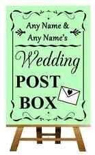 Green Wedding Post Box Personalised Wedding Sign / Poster