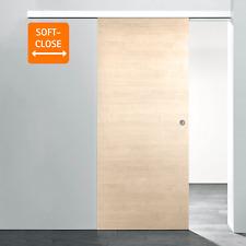 Schiebetür Holzschiebetür Ahorn Softclose Zimmertür Holz Tür Schiebetürsystem