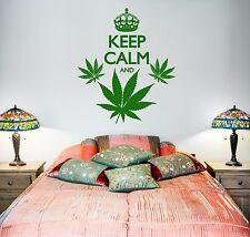 Wall Vinyl Marihuana Keep Calm And Smoke Weed (z3390)