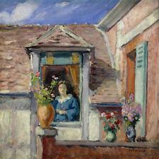Femme à la fenêtre-H Lebasque Imprimer
