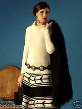 >BLACK< $240 ROJA ANN TOBIAS NEW LUXURIOUS DESIGNER SWEATER COWL BOAT NECK