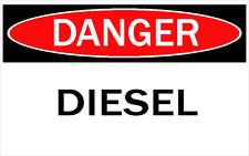 DANGER -DIESEL / Vinyl Decal / Sticker / Safety Label  PIckA Size