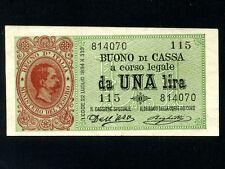Italy:P-34,1 Lira,1894 * King Umberto I * VF-EF * RARE * RARE *