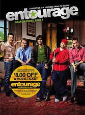 Entourage - Season 3, Part 1 (DVD, 2015, 3-Disc Set) NEW SEALED