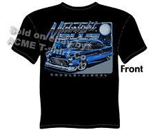 Chevy Shirt Chevrolet Clothing Classic Car Shirt 1955 55 Bel Air Midnight Blue