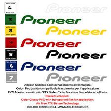 Pioneer adesivi pre spaziato vinile sticker sponsor moto helmet 2 pz. cm. 20