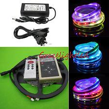 Magic Dream Color 5M 6803 5050 RGB Led Strip Light RF Controller adapter IP20 #B