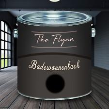 The Flynn 2K Badewannenlack Schwarz hochwertige Badewannenfarbe GFK SET