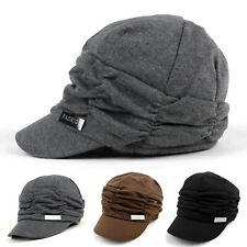 2019 Fashion Women Pleated Layers Beret Beanie Hat Peaked Brim Casual Sun Caps