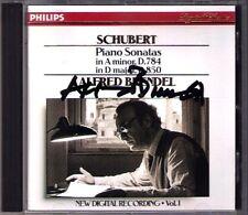 Alfred BRENDEL Signed SCHUBERT Piano Sonata D,784 850 CD Klaviersonaten PHILIPS