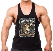 Men's American Hunter Stringer Tank Top T-Shirt Mossy Deer Hunting Wildlife USA