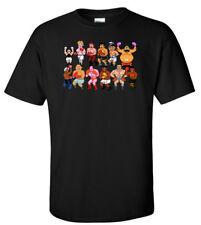 "BLACK Classic Nes Nintendo 8-Bit Mike Tyson ""Punchout Characters"" T-shirt"
